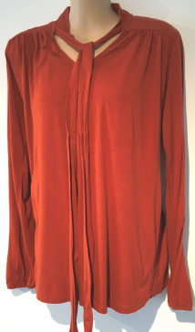 BLOOMING MARVELLOUS ORANGE 2 PIECE TIE NECK TUNIC TOP SIZE 14